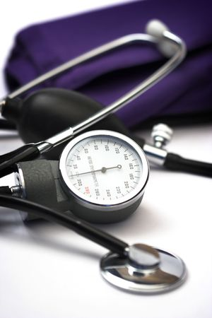 sphygmomanometer close up,shallow dof  Standard-Bild
