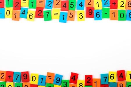 numbers abstract: Marco matem�tica con n�meros de color Foto de archivo