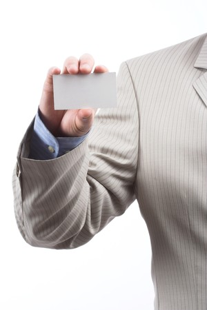 Businessman holding blank business card Stock Photo - 6972643