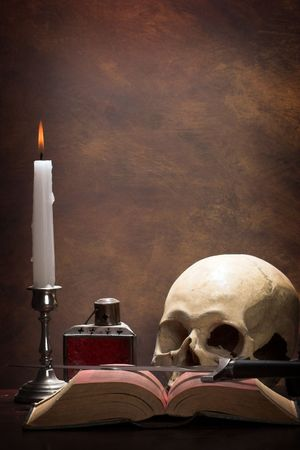 The desk of an alchemist  photo