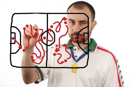 menager calcio un piano tattico di disegno
