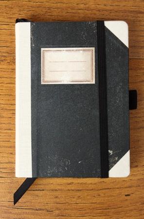 Old Fashion notebook da vicino Archivio Fotografico