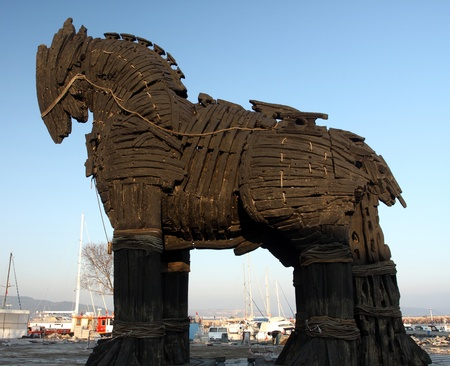 trojan horse: Trojan Horse in Canakkale ,Turkey.