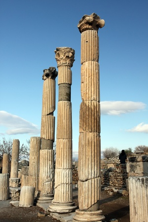 ancient column over the sky , Ephesus, Turkey Imagens
