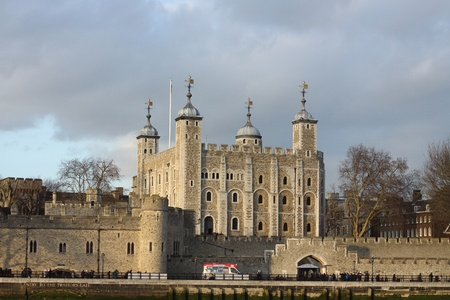 View of Tower of London, England photo