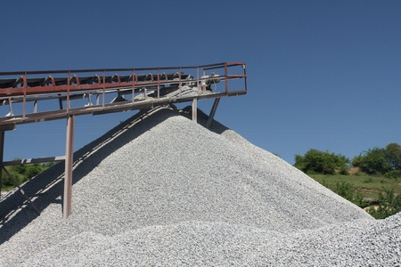 conveyors: Conveyors in a stone quarry  Stock Photo