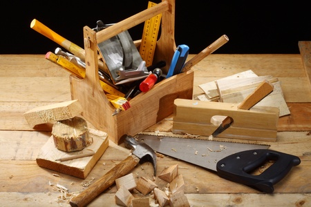 carpenters tool on a workbench