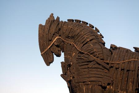 cavallo di troia: Cavallo di Troia a Canakkale, Turchia.
