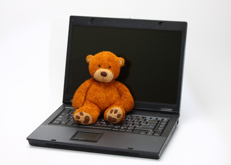 teddy bear abandoned because new digital toys photo