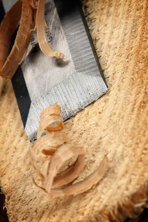 carpenter wood chisel tool close up shallow DOF