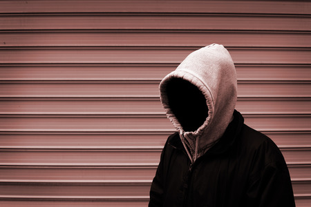 Invisible man in the hood duotone picture photo
