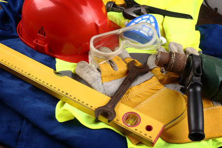 protective: industrial protective equipment and tools Stock Photo