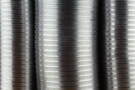 aluminium air tubes as a background