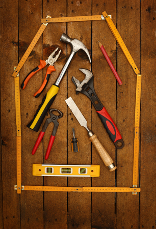 yardstick house and hand tools
