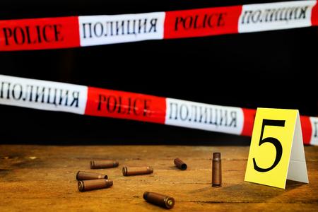 scene of criminal investigation collect evidance Imagens