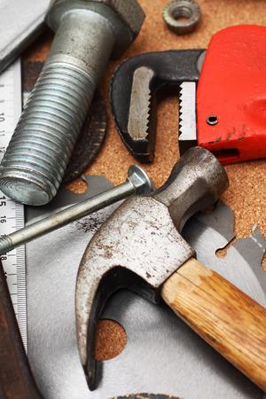 hand tools close up, shallow dof