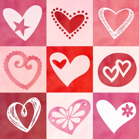 repeated: Textured heart background that could be repeated for more design effects