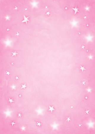 space for copy: Pink star background with room for copy space  Stock Photo