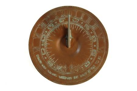 reloj de sol: Sundial aislados en blanco