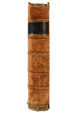 book spine: Antique leather book