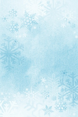Textured winter snowflake background photo