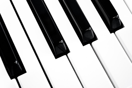 Close up on a section of black and white keys on a musical keyboard. Stock Photo - 10851147