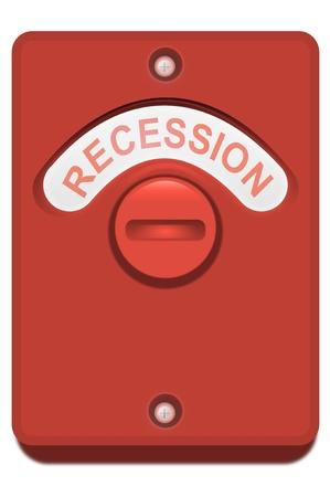 toilet door: Illustration of a red toilet door lock with the  Stock Photo