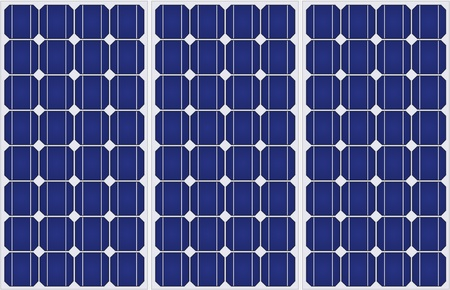 electric grid: Illustration of solar panels pattern in a uniform formation. Stock Photo
