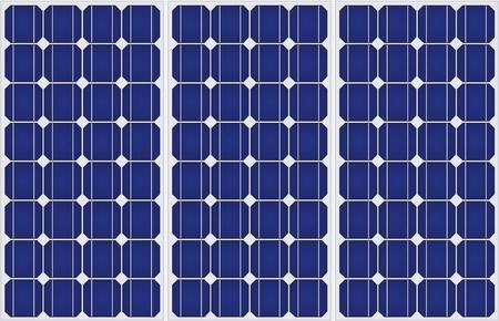 Illustration von Sonnenkollektoren Muster in einer einheitlichen Ausbildung. Standard-Bild