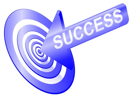 Illustrated success concept depicting an arrow with the word  Stock Photo - 11534211