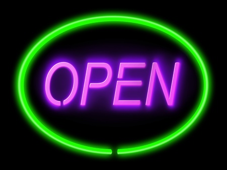 neon sign: Illustration depicting an illuminated green and violet