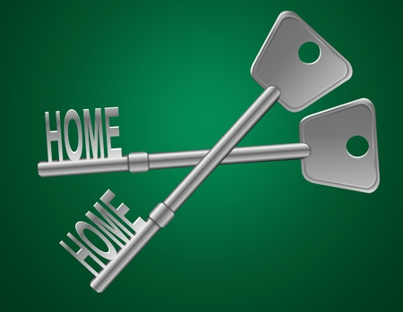 homeowner: Illustration depicting two keys with a