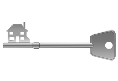 Illustration depicting a single key with a