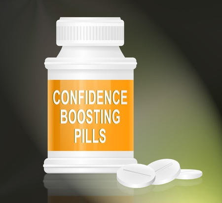 boosting: Illustration depicting a single white and yellow medication container with the words