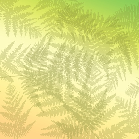 pal: Abstract illustration depicting many  pale green fern leaves against pal pastel background
