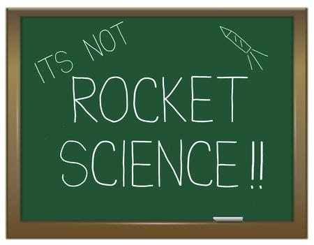 cohetes: Ilustraci�n que muestra una pizarra verde con una
