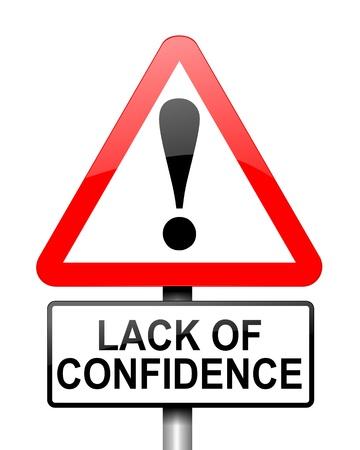 confianza: Ilustraci�n que muestra el rojo y blanco se�al triangular de advertencia en carretera con un concepto de fondo de la confianza de Blanca Foto de archivo