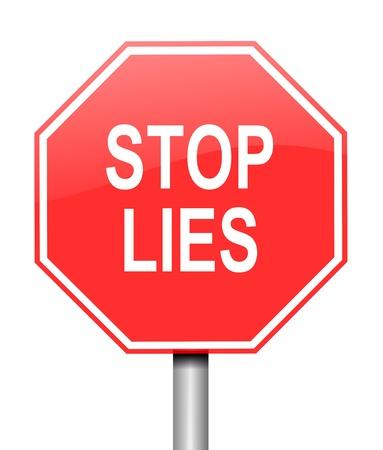 hipocresía: Ilustraci�n que muestra se�ales de advertencia camino rojo y blanco, con un concepto de enga�o. Blanco fondo. Foto de archivo