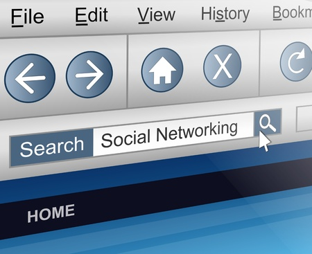Illustration depicting a computer screen shot with a social networking search concept. Stock Illustration - 13332445