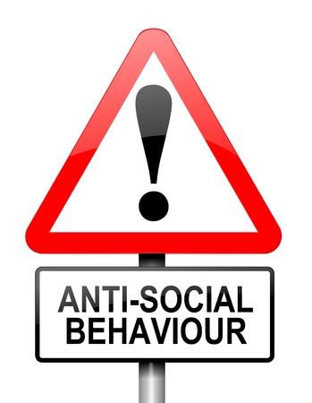 anti noise: Illustrazione raffigurante un segno rosso e bianco avvertimento triangolare con un concetto di comportamenti anti-sociali. Sfondo bianco.