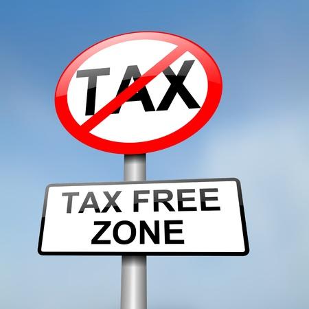 zone: Illustratie afbeelding van een rood en wit verkeersbord met een Taxt gratis concept. Blauwe hemel achtergrond wazig.