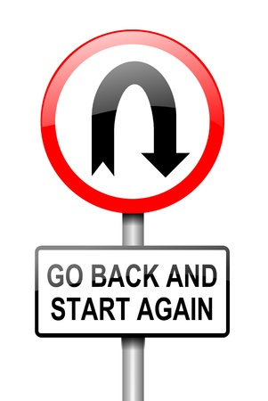 Illustration depicting a red and white road sign with a  illustration