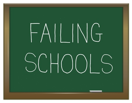 failing: Illustration depicting a green chalk board with a failing schoolsl concept  Stock Photo