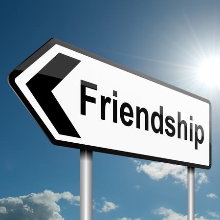 finding a mate: Illustration depicting a road traffic sign with a friendship concept. Blue sky background.
