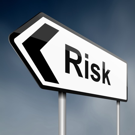 Illustration depicting a road traffic sign with a risk concept. White background. Stock Illustration - 13820747