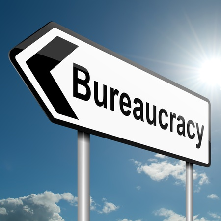trapped: Illustration depicting a road traffic sign with a bureaucracy concept  Blue sky background