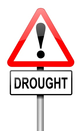 lacking: Illustration depicting a road traffic sign with a drought concept  White background  Stock Photo