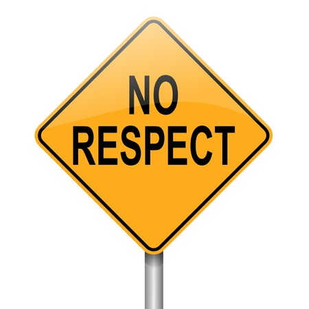admiring: Illustration depicting a roadsign with a respect concept  White  background  Stock Photo