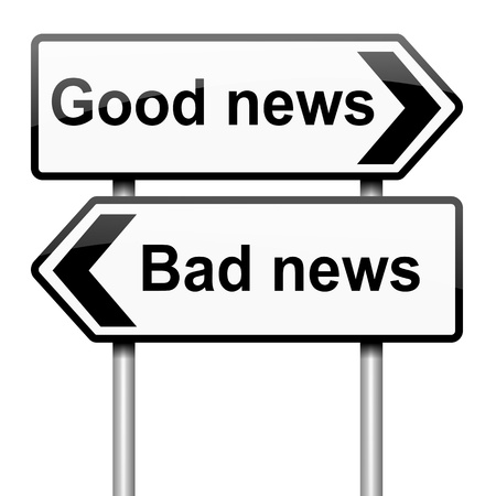 news flash: Illustration depicting roadsigns with a news concept. White  background.