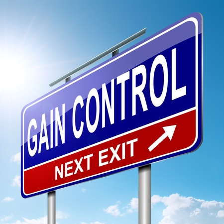 self control: Illustration depicting a roadsign with a control concept  Sky  background